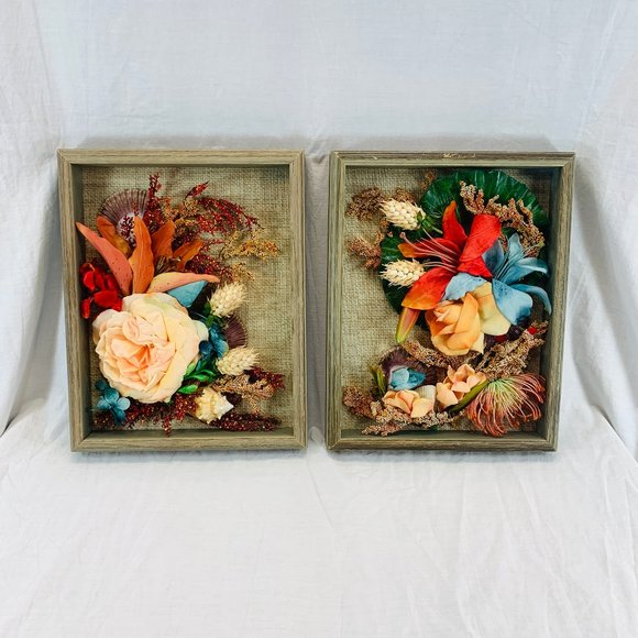 Kitsch Boho 3D Silk Flower Shadowbox